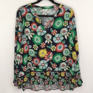 """NWT Crown & Ivy """"Riviera Holiday """" Blouse"""